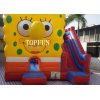 0.55 mm PVC Tarpaulin Inflatable Jumping Castle With Spongebob CE Manufactures