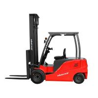 seated 4 wheels  electric forklift with 5 tons load capacity Manufactures