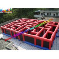 China Funny Inflatable Sports Games Laser Tag Air Inflatable Maze Durable on sale