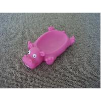 Vinyl Hippo Rubber Bath Toys Plastic Soap Holder / Dish For Bathroom Decoration Manufactures