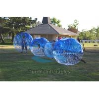 Blue Clear Bubble Ball Game Portable Inflatable Body Bumper Ball Manufactures