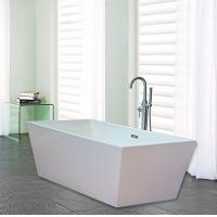 Narrow Edge Portable Acrylic Freestanding Bathtub With End Drain Lightweight Manufactures