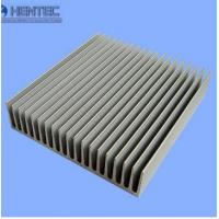 Aluminum Industrial Porifle Heat Sink Extrusion Profiles Sand Blasted Manufactures