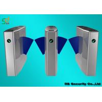 RFID Flap Barrier Gate Turnstiles, Automatic Access Control Turnstile Optical Manufactures