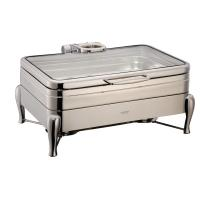 YUFEH Stainless Steel 304# Hydraulic Induction Chafing Dish W/ Glass Lid Buffet Serving Dish Warmer Manufactures