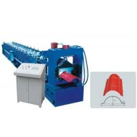 Galvanized Roof Ridge Cap Roll Forming Machine With Hydraulic Pressing Machine Manufactures