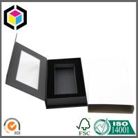 Black Foam Insert Paper Gift Packaging Box Clear Plastic Window with Sleeve Wrapper Manufactures