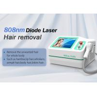 Portable Permanent 808 Diode Laser Hair Removal Machine With Cooling Manufactures