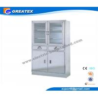 China Swing Glass Doors Metal Hospital Furniture Cupboard for Store file and book on sale