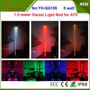 5 watt 5 inch Osram multi color whit it light rod LED whip for ATV or SXS Manufactures