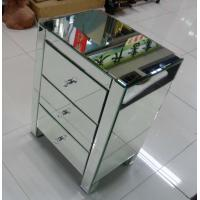 Quality UK Style Mirrored Night Stands Metal Slider Drawer Customized Size for sale