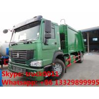 SINO TRUK HOWO LHD/RHD garbage compactor truck for sales, Best price12cbm compacted garbage truck for sale Manufactures