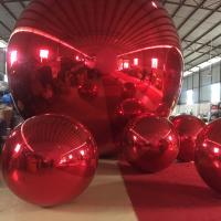 Quality Fireproof 4 M Red MIirror Inflatable Advertising Ball For Event Or Show for sale