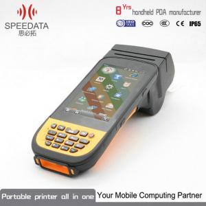 China 2D Bar Code PDA Thermal Printer Handheld Label Printer 512MB Memory on sale