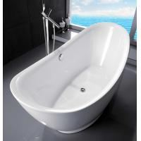 Quality Curved Half Egg Shaped Freestanding Bath Tubs , 1700X800 Bathroom Freestanding Tubs for sale