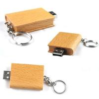 Keychain Wood USB Flash Drive High Speed USB 2.0 with 128MB - 64GB Manufactures