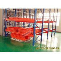 High Density Push Back Rack System Customized Height S235JR Material Manufactures