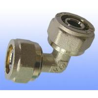 Quality compression brass fitting reduce elbow for PEX-AL-PEX for sale