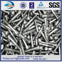 Railway high tensile oval neck black oxide fish bolts 8.8,10.9 with nut Manufactures