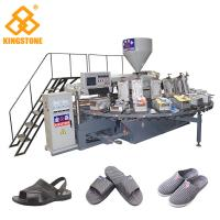 Plastic Shoe Making Production Line , Rotary TPR PVC Shoe Sole slipper Making Machine  Manufactures