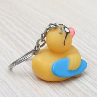 Phthalates Free Yellow Assorted Surfing Duck Toy With Keychain Collection Manufactures