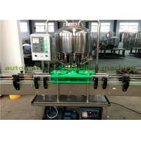 Quality Linear Type Small Mineral Water Filling Machine , Pet Bottle Beverage Capping Machine for sale