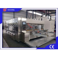 Top Printing 5 Color Flexo Printer Slotter Die Cutter Stacker  Economic Model Manufactures