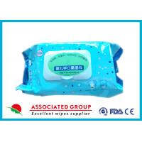 Natural Soft Baby Wet Wipes Alcohol Free Customized Fabric Weight For Hands / Mouth Manufactures