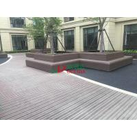 Buy cheap Wood Plastic Clow Maintenance Decking With Groove Surface , Waterproof Plastic from wholesalers