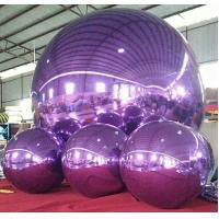 Decorative Inflatable Advertising Mirror Ball For Stage / Fashion Show Manufactures