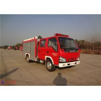 Quality Red Painting Rear Mount Pump Fire Truck , MSB Manual Gearbox Industrial Fire Truck for sale