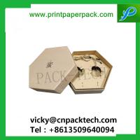 China Custom Retro Style Hexagon Earrings Box with Inner Tray Tea Box Food Packing Box on sale