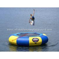 Floating Trampoline On Water , Inflatable Aqua Jumper With Reinforced Strips Manufactures