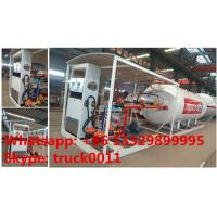 Quality bottom price 10,000Liters skid lpg gas station for filling taxi, factory sale for sale