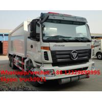 FOTON AUMAN 6*4 LHD 16m3 garbage compactor truck, factory sale cheapest price FOTON 16m3 compacted garbage truck Manufactures