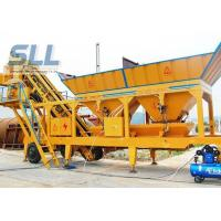 Twin Shaft Mini Mobile Concrete Batching Plant For Construction Machinery Manufactures