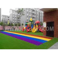 Kids Playing Putting Coloured Sports Artificial Grass With Shock Pad Grassland Manufactures
