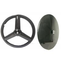 Quality Track Bike Carbon Disc Wheel 700C Tri Spoke T700 Front 23MM Width Rear 22MM for sale