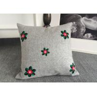 Embroidered Elegant Decorative Cushion Covers 100% Cotton For Couch / Sofa Manufactures