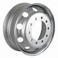 Steel Tubeless Truck Wheels Rim, 22.5 x 8.25, US and EU Styles Manufactures