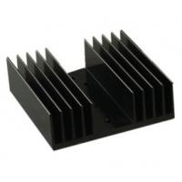 Black Anodized Aluminum Heat sink Extrusion Profiles , Aluminum Radiator Manufactures