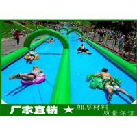 Quality Large Inflatable Water Slides , PVC Tarpaulin Outdoor Inflatable Slideway For funny for sale