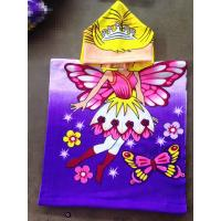 Buy cheap 50*100cm 100% polyester hooded baby bath towel,poncho for girls  butterfly from wholesalers
