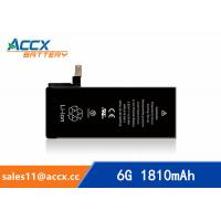 ACCX brand new high quality li-polymer internal mobile phone battery for IPhone 6G with high capacity of 1810mAh 3.8V Manufactures