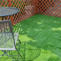 Outdoor Garden Decoration joint Tile Interlocking Artificial Grass deck Tile Manufactures