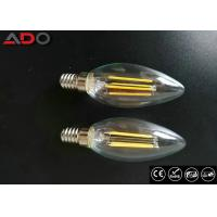 Milky Glass Led Candle Light Bulbs C35 Eco Friendly For Amusement Park Manufactures