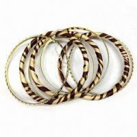 Alloy Bangle Set with Cloth, Latest Unique and Fashionable Style, OEM Designs and Orders are Welcome Manufactures
