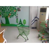 33 Liter Green Q195 Steel Kids Shopping Carts With Metal Flag Pole Manufactures