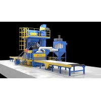 Sa2.5 And Noise≤85 DB Q69 H Beam Shot Blasting Machine Roller Conveyor Type Manufactures