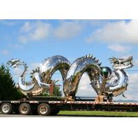 Traditional Chinese Large Dragon Sculpture , Metal Dragon Garden Sculpture Manufactures
